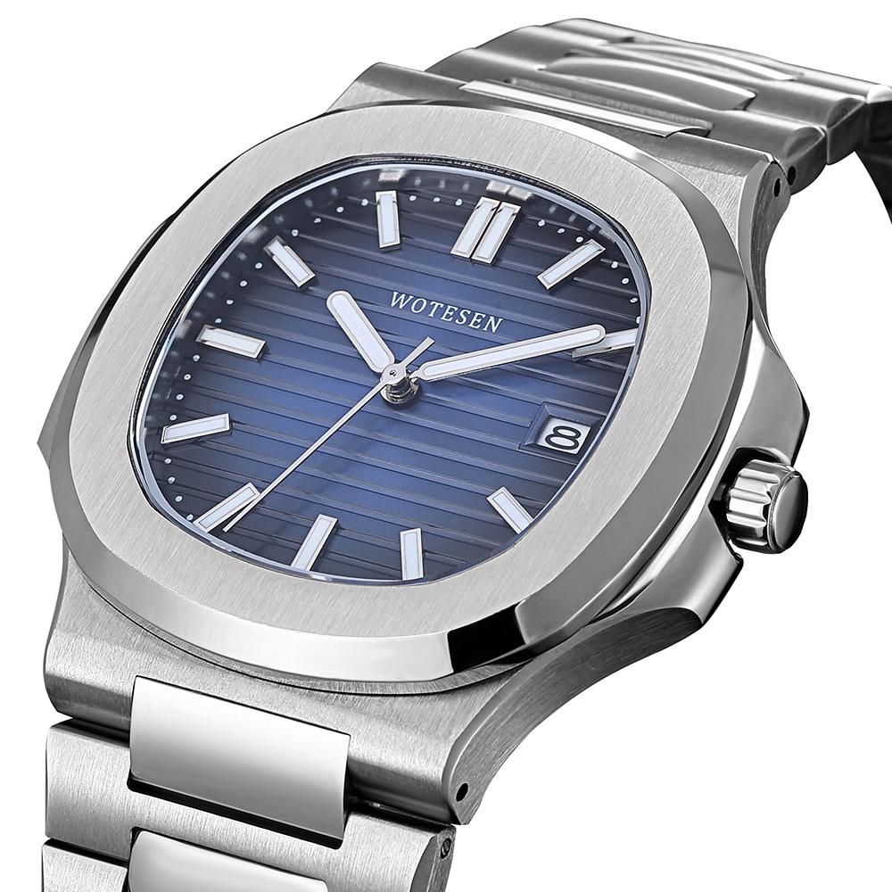 Men Top Brand Luxury Sports Watch Male Military Quartz watch Analog Date Clock steel luminous hand patek watch AAA nautilus 2019(China)