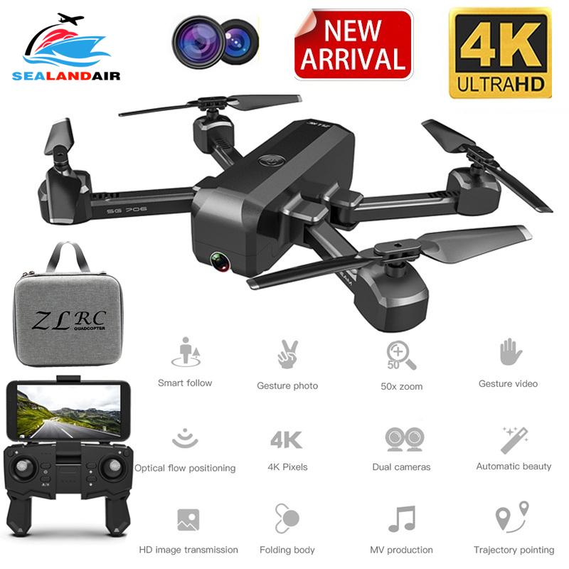NEW Camera Drone with 4K Camera HD 1080P Aerial Video WIFI FPV Quadcopter Follow Me RC Helicopter Dron x Pro VS GD89 LF606 LF609 image