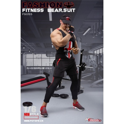 "Image 3 - Fire Girl Toys 1/6 FG055 1/6 Male Fitness Wear Suit Sport Vest Pants Clothes for 12"" TBLeague M33 M34 M35 Action FiguresAction & Toy Figures   -"