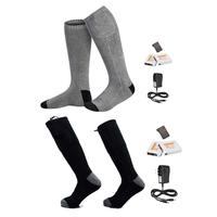 Newest Remote Control Electric Hot Socks 2200m Charging Thermostat Lithium Battery Heating Socks Can Be Washed And Warm