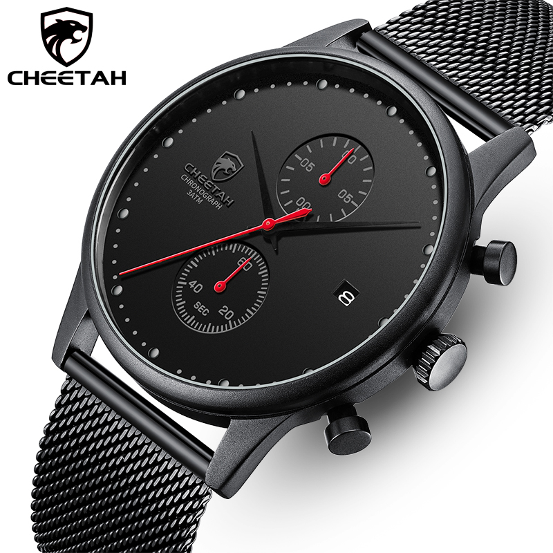 CHEETAH Men's Watches Top Luxury Brand Fashion Quartz Men Watch Waterproof Chronograph Business Wristwatch Relogio Masculino