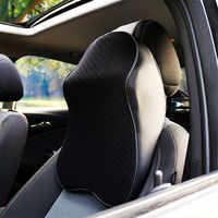 Подушка для шеи автомобиля 3D головка из вспененного материала для отдыха Регулируемая Авто подголовник подушка для путешествий подушка дл...