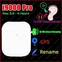 Nowy oryginalny i9000 Pro TWS 1:1 douszne słuchawki Bluetooth Mini bezprzewodowe słuchawki sportowe słuchawki stereo elari PK Aire 2 3