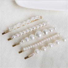 1 pc  Fashion Handmade Pearl Imitation Hair Clip Snap Barrette Stick Hairpin Hair Styling Accessories For Women dropshipping cute 1 pc ins fashion women girls pearl hair clip hairband snap barrette stick hairpin hair styling tools hair accessories
