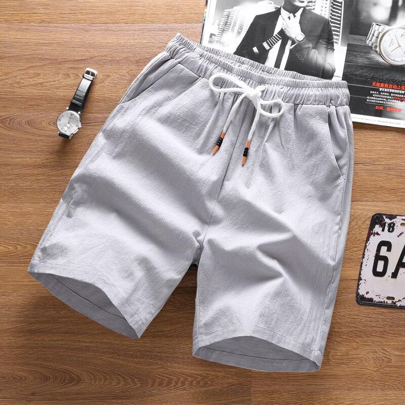 Summer Men Shorts Casual Big Sizes Plus Loose Linen Shorts Men Pockets Fashion Cotton Hiphop Sport Calzones Mens Clothing XX60MS