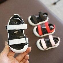 Verão infantil da criança sandálias do bebê meninas meninos sandálias de fundo macio confortável não deslizamento sapatos crianças anti colisão sandálias