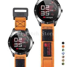 22 24 26mm náilon pulseira de relógio esporte para samsung galaxy 46mm relógio 3 45mm cinta para grea s3 huawei gt2 pro 46mm loop