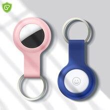 עבור Airtags רך סיליקון נרתיק מגן כיסוי עבור אפל Airtags Bluetooth Tracker מגן פגז שרוול עם keychain