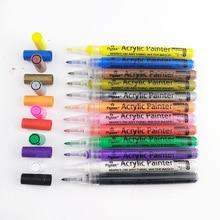 Pencil Paint-Pens 12-Color Water-Based Width-Marker Acrylic Cross-Ocean New