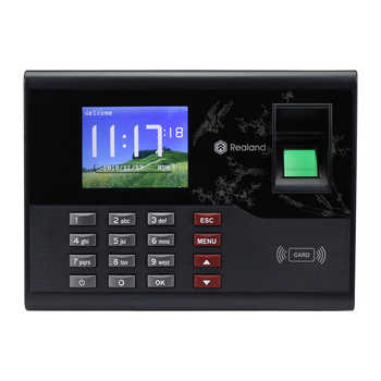 2.8inch Realand TCP/IP/USB RFID Reader Biometric Fingerprint Attendance Machine Time Card locker TCP/IP/USB Employee Check-in - DISCOUNT ITEM  15% OFF All Category