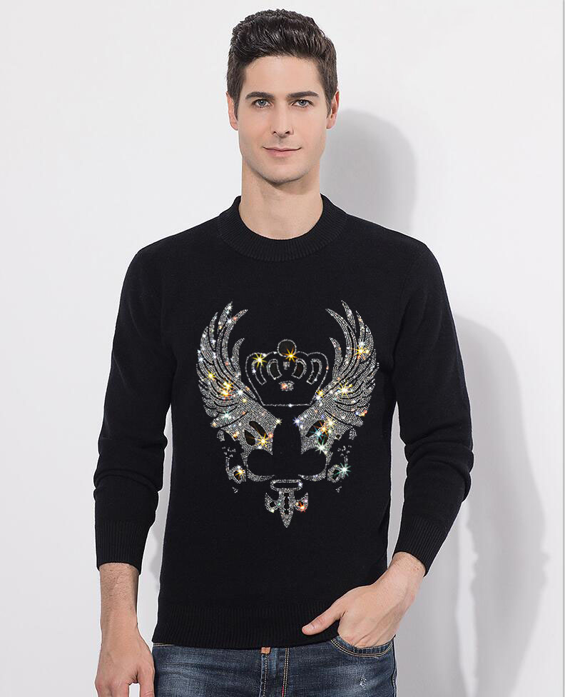 2020 New Autumn And Winter Men's Sweater Men's  Diamond Stone Casual Slim Sweater Men's Brand Pullovers