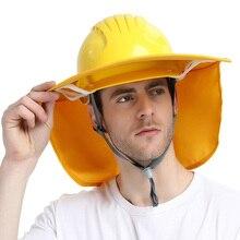 Полноразмерный козырек конструкция Анти-УФ Защита от солнца солнцезащитный козырек для защитного шлема летняя дышащая многофункциональная широкая шляпа