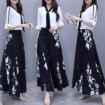 Goddess Women 2 Piece Set Top And Pants Floral Print Floral Print Woman Clothes Matching Sets Ensemble Femme Deux Pieces фото
