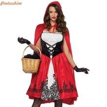 Hood-Costume Halloween Cosplay Riding Girl Dress Fantasia Women Cloak for Fancy Adult
