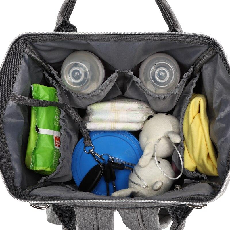 Image 4 - USB сумка для подгузников, рюкзак для мам, мокрая сумка для мам, водонепроницаемая сумка для коляски, сумка Органайзер, уличные сумки для ухода за детьми LEQUEENСумки для подгузников   -
