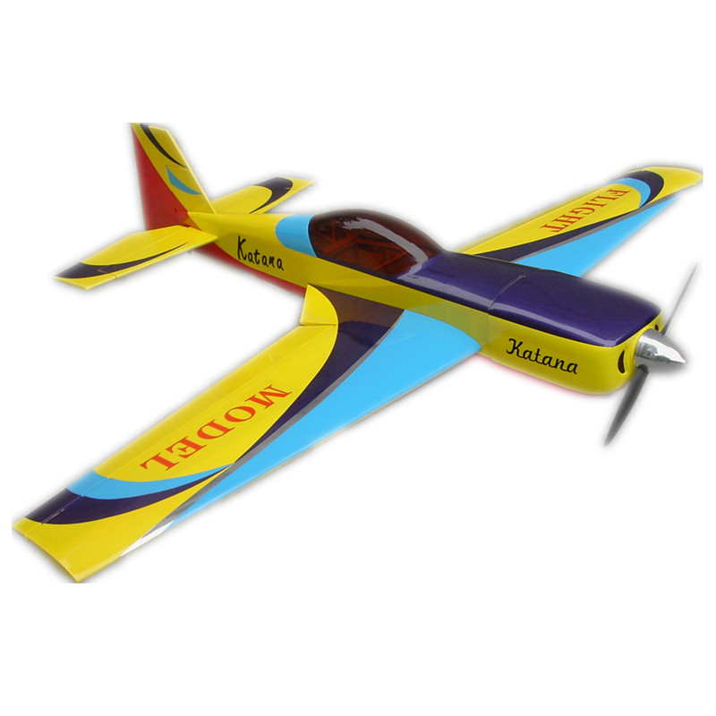 FLIGHT Katana 70inch 26-28CC Wooden RC Model Gasoline Fixed-Wing Airplane image
