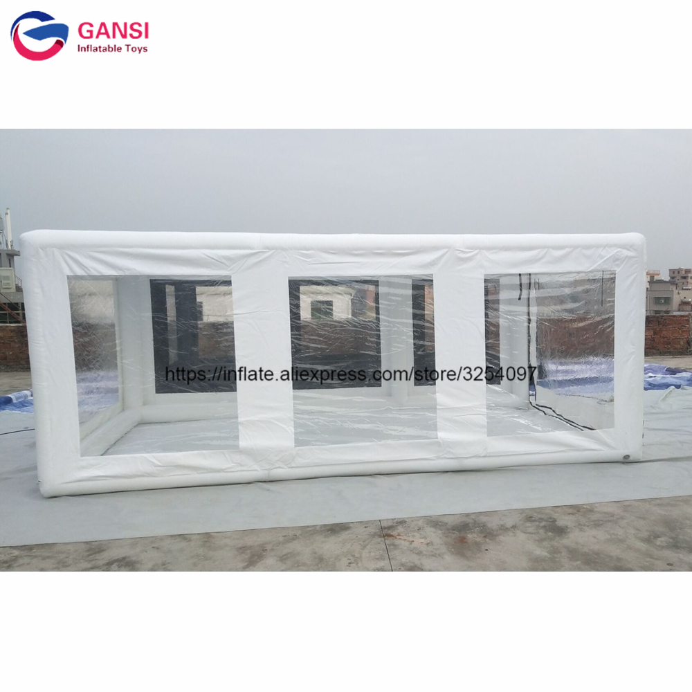 5x2.8x2m white inflatable <font><b>car</b></font> storage <font><b>tent</b></font> inflatable <font><b>garage</b></font> cover wash <font><b>tent</b></font> image