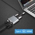 4 в 1 Type-C к HDMI 4K VGA USB3.0 Аудио Видео адаптер PD быстрое зарядное устройство SP99