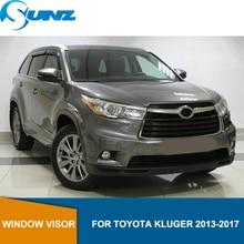 Black Side window deflectors rain guard door visor For Toyota Kluger 2013 2014 2015 2016 2017 Wind shields wind deflectors SUNZ