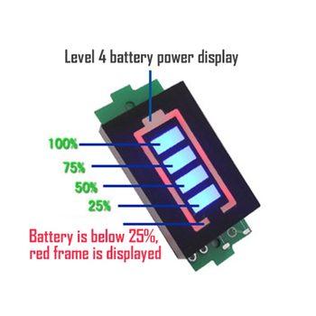 strong Import List strong 3 7V 2S 3S 4S 6S Li- Li-wskaźnik pojemności baterii litowej moduł niebieski wyświetlacz pojazd elektryczny baterii Tester mocy tanie i dobre opinie Urijk CN (pochodzenie) ELECTRICAL Tester Baterii Urządzenia elektronicznego