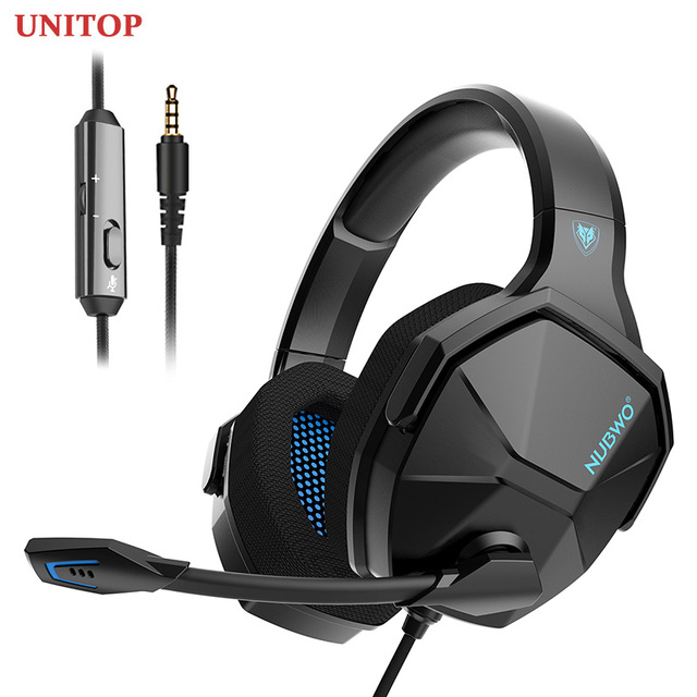 UNITOP NUBWO N13 3 5mm Gaming Headset Music Headphones Stereo Over Ear Wired Earphones With Microphone For PC PS4 Skype Xbox One