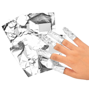 100PCS Nail Remover Tin Foil Natural Gel Polishing Quick Makeup Remover Clean Cotton Pad Absorb Acrylic Nail Art Aluminum Foil