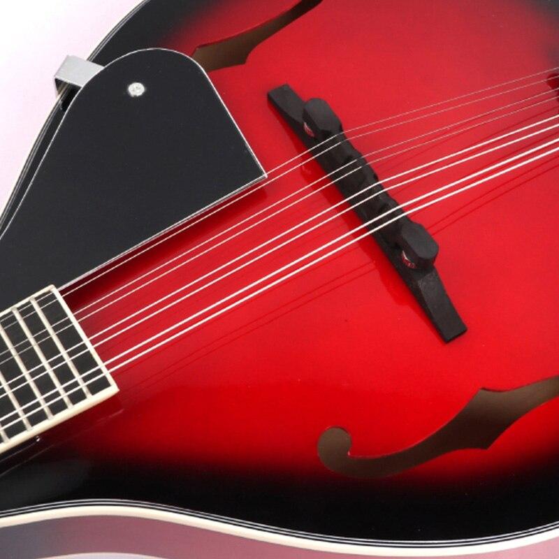 8 String Tiglio Sprazzo di Sole Mandolino Strumento Musicale con Corda di Acciaio in Legno di Palissandro Mandolino Strumento a Corde Ponte Regolabile - 3