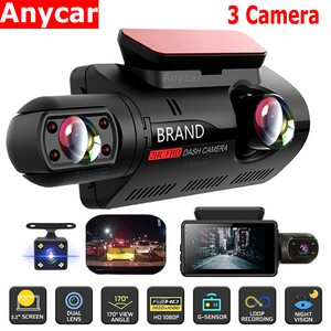 FHD Car DVR Camera New Dash Cam Three Record Hidden Video Recorder Dash Cam 1080P Night Vision Parking Monitoring G-sensor