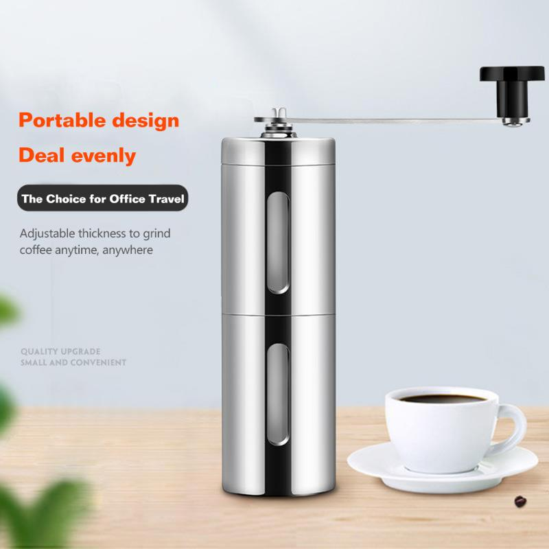 Mini Hand-Cranked Coffee Grinder Portable Household Manual Coffee Bean Grinder Stainless Steel Coffee Powder Making Tool