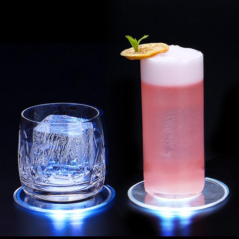 Акриловый кристалл ультра-тонкий светодиодный светильник каботажное судно коктейльное каботажное судно флэш-память для бара, для бармена ...