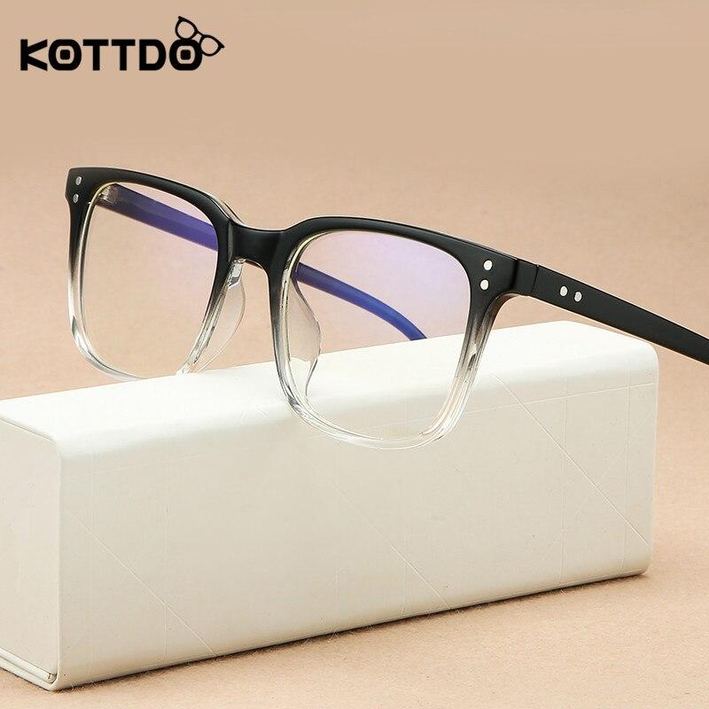 KOTTDO Retro Classic Square Women Glasses Frame Optical Prescription Eyeglasses Frames Men Computer Glasses Frame Gafas Oculos