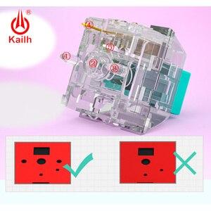 Image 5 - 10 قطعة kailh كريستال صندوق التبديل برو لوحة المفاتيح الميكانيكية لتقوم بها بنفسك RGB/SMD اللمس التبديل الغبار مقاوم للماء متوافق الكرز MX