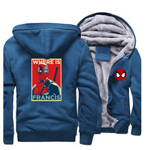 Nieuwe Deadpool Marvel Suiperhero Hoodie Mannen Casual Hooded Sweaters Sweatshirts heren Sportswear Jas Jassen(China)