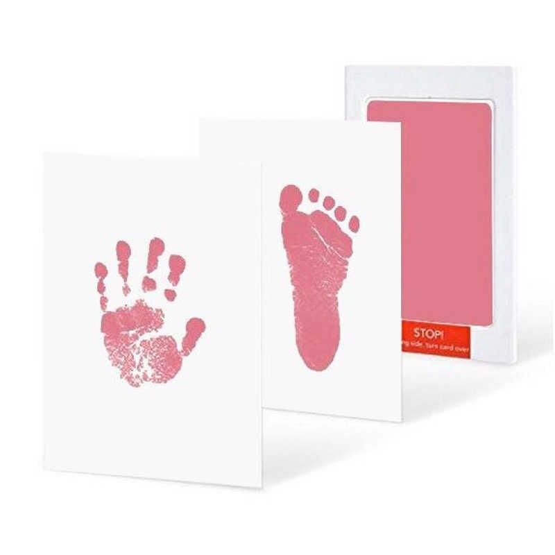 Nouveau-né empreinte Handprint papier grande taille Non-toxique impression cartes Pad sans encre Mess gratuit bébé Souvenir sûr bébé infantile encre