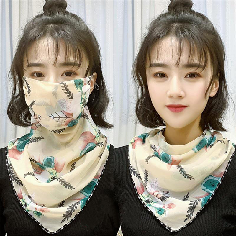 2020 Hot Sell Lightweight Scarf Face Mask Women Sun Protection Outdoor Riding Scarve Masks Fashion Protective  Shawl & Wrap