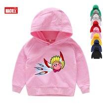 Cute Kirby Girl Star Hoodies Kids Game Sweatshirts Allies Characters Children Winter Tops Boy Cartoon Pink