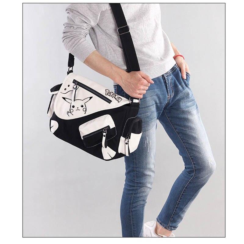 2019 mode dessin animé Pikachu Messenger sac grands sacs à bandoulière école livre sacs pour adolescents drôle bandoulière sacs de voyage
