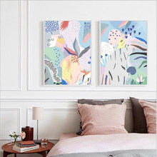 Poster nordici quadri astratti su tela Poster e stampe giardini estivi Gioia immagini murali decorazioni per la casa per soggiorno