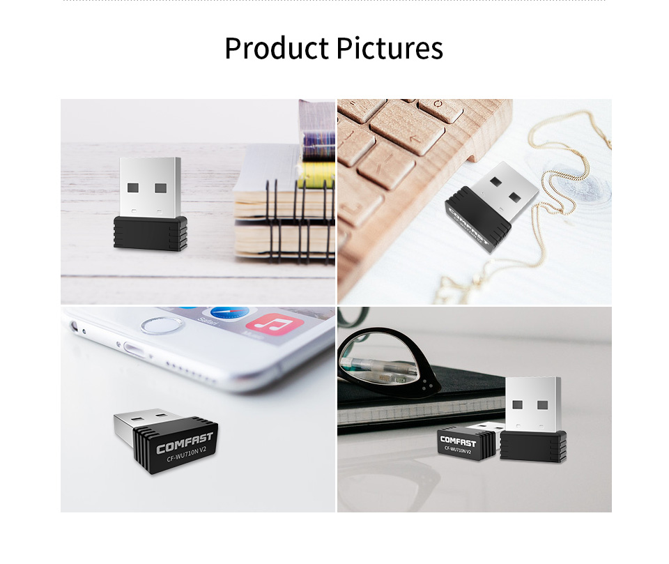 Mini USB Wifi Adapter 802.11b/g/n Antenna 150Mbps USB Wireless Receiver Dongle MT7601 Network Card Laptop TV BOX Wi-Fi Dongle 4