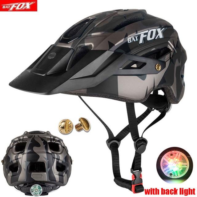 2019 corrida capacete de bicicleta com luz in-mold mtb estrada ciclismo capacete para homens mulheres ultraleve capacete esporte equipamentos de segurança 1