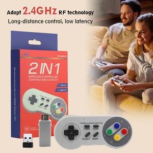 Image 4 - Wireless Gamepad 2.4GHz remote controller SNES USB joystick Console for Nintendo Games for Windows PC Raspberry Pi Retro Pie