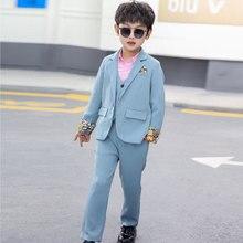 Costume Wedding-Suit School-Uniform Dress Tuxedo Flower Party Children's-Day Boys Kids