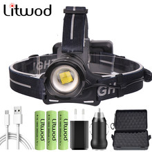 XHP90.2 Super Bright USB Rechargeable Led Headlamp XHP70 Most Powerfull Headlight Fishing Camping Zoom Torch 18650 Battery 30W(China)