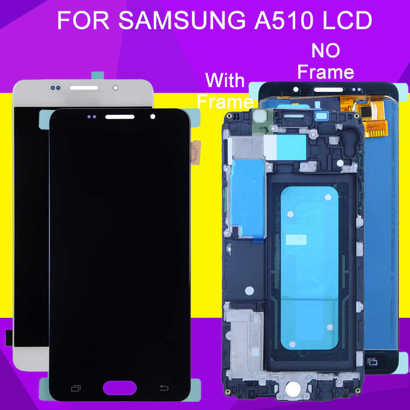 HH OLED A510 LCD สำหรับ Samsung Galaxy A5 2016 จอแสดงผล Lcd Touch Screen Digitizer Assembly A5100 A510M A510M/DS a510Y A510F จอแสดงผล