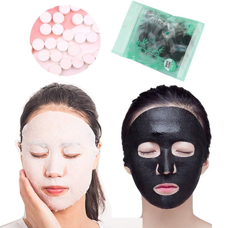 Natural Face Mask Disposable Paper Compression Masks for DIY Face Mask Sheet Skin Care Moisturizing Whitening Compressed Masks(China)