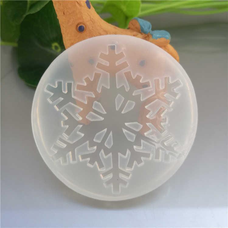 Kepingan Salju Silikon Cetakan Fondant Kue Sugarcraft Biskuit 3D Kue Dekorasi Alat Epoxy Resin Cetakan untuk Perhiasan