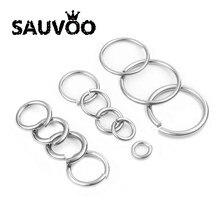 Anillo de acero inoxidable de 12/15/20/25/30/mm, conector dividido para collar, pulsera, joyería, accesorios de bricolaje, anillo para saltar