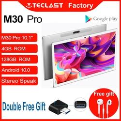 Tablette M30 Pro 10.1 pouces Android 10 IPS 1920x1200 4G appel réseau 4GB RAM 128GB ROM double Wifi GPS capteurs intelligents Teclast