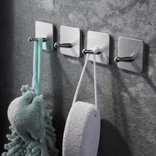 ZUNTO 4PCS Towel Hook Stainless Steel Wall Hooks kapstok Clothes HookHat Hanging Kitchen Bathroom The On