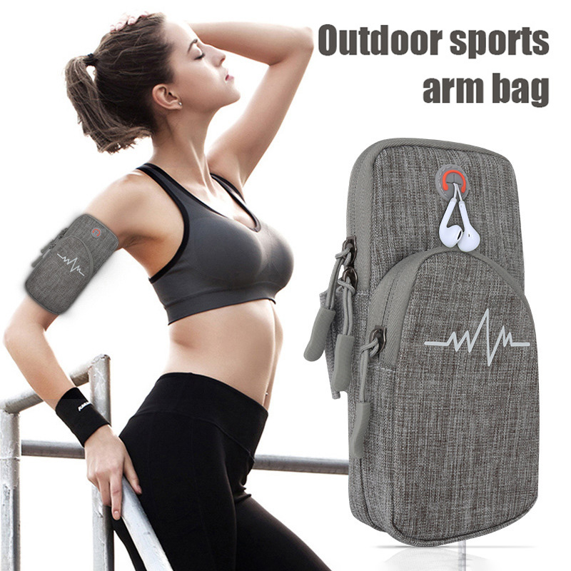 Phone Arm Bag With Zipper Portable Waterproof Arm Pouch For Running Sports Fitness HB88